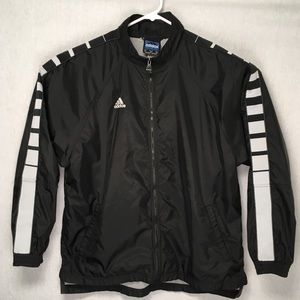 Adidas mens windbreaker reflectors on sleeves L